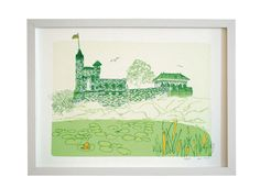 Central Park Sketchbook: Belvedere Castle by The Municipal Prints Company