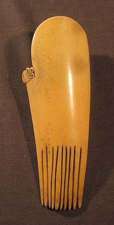 : Whale Bone Maori Heru Comb | Barbaraanne's Hair Comb Blog