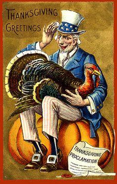Uncle Sam Pardons the Gobbler----Vintage Patriotic Thanksgiving Postcard Thanksgiving Blessings, Thanksgiving Greetings, Vintage Thanksgiving, Thanksgiving Crafts, Vintage Holiday, Thanksgiving Table, Thanksgiving Decorations, Fall Crafts, Holiday Decor