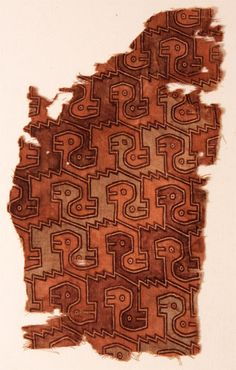 textile fragment Perú c. ref: University of Wisconsin at Madison Ancient Peruvian, Colombian Art, Bolivia, Peruvian Textiles, Textile Patterns, Aztec Patterns, Brazilian Embroidery, Inca, Pattern Library