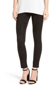 eeb0a2d30818be Fire Faux Suede Front Leggings available at #Nordstrom Suede Leggings,  Suede Pants, Faux