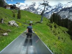 Switzerland's Mountain Coaster Lets You Slide Down the Alps. This slide isn't for the faint-hearted.
