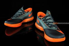 Nike KD VI Anthracite Total Orange Detailed Pictures