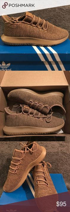Adidas Tubular Shadow - Brown - New These are new Adidas Tubular shadow men's/women's size 9.5/11.  I meant to buy grey but ordered brown/tan so I want to sell them.  Worn once for an hour to test comfortably.  Please let me know if you have any questions. Submit an offer.   Thanks adidas Shoes