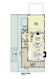 Beach Style House Plan - 4 Beds 3.5 Baths 2769 Sq/Ft Plan #901-120 Floor Plan - Main Floor Plan - Houseplans.com