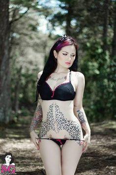 leopard tattoo woman