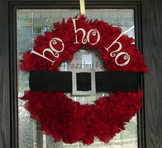 ***This is a custom listing for Camden1990**** This wreath is hand cut and hand tied from strips of red burlap. It measures 24 across. The