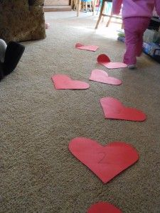 Toddler Valentine's Hop - great idea to use for the joy school valentines party I'm hosting this year.