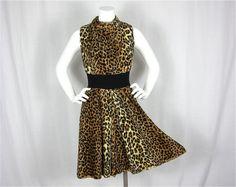 Vintage 1960s Leopard Print Dress by FireflyVintage