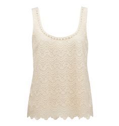 Riley Lace Front Shell Top - Forever New - just make sure this is not too cream. But look for singlets with detail that will dress your outfit up a little rather than just a basic tee. basics tees and tanks are great when you have detail on the bottom.