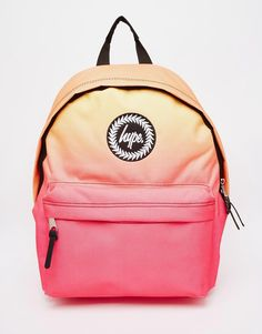 Image 1 of Hype Backpack in Pink and Orange Ombre