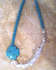 White & Turqoise Necklace