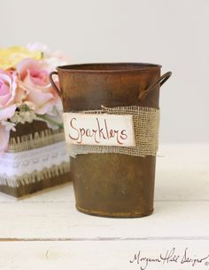 Sparklers Holder Rustic Chic Wedding Farewell Item by braggingbags, $26.50
