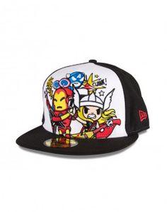 Tokidoki Marvel Heroes Rock Hat