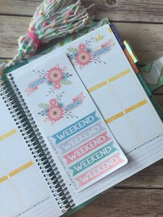 SSS-0011 Watercolor Floral Weekend Banner by SparkSomeSunshine