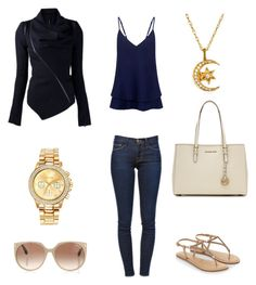 """Casual Outfit"" by mitchieanne21 on Polyvore featuring Frame Denim, C/MEO COLLECTIVE, Accessorize, MICHAEL Michael Kors, Tom Ford and Mestige"