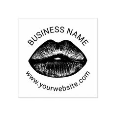 Red Lips Makeup Artist Beauty Salon Business Rubber Stamp Custom Office Party #office #partyplanning