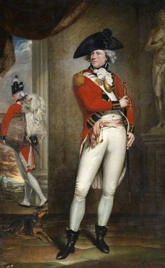 Captain John Clayton Cowell (1762–1819), 1st Battalion, 1st (or the Royal) Regiment of Foot, c.1796  by William Beechey, National Army Museum