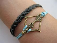 Braceletantique bronze arrow bracelethunger games by infinitywish