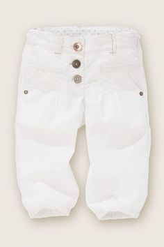 White Linen Blend Cropped Trousers (3mths-6yrs)