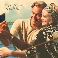 The Great Gatsby (2013) | Selfie: Leonardo DiCaprio (Gatsby) and Carey Mulligan (Daisy Buchanan)