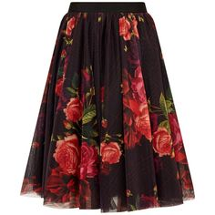 Ted Baker Ondra Juxtapose Rose Tutu Midi Skirt, Oxblood (€235) ❤ liked on Polyvore featuring skirts, bottoms, flared skirt, knee length flared skirts, floral print skirt, floral flare skirt and purple midi skirt