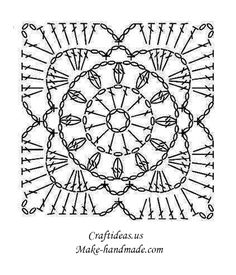 Crochet Granny Square Diagram Honeywell Fcu Thermostat Wiring 14 Diagrams Motif Flower For Bikini Chart Tig Isi Sablonu Motifleri