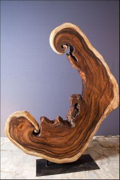 acacia sculpture on iron base acacia sculpture on iron base Driftwood Sculpture, Driftwood Art, Wood Log Crafts, Driftwood Projects, Wood Logs, Log Furniture, Wooden Stools, Wooden Wall Art, Handmade Wooden