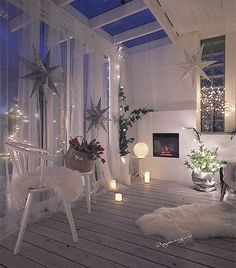Decoração natalina - All About Balcony Interior Design Living Room, Living Room Decor, Bedroom Decor, Living Spaces, Home And Deco, Dream Rooms, My New Room, House Rooms, Room Inspiration