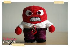 100% FREE PATTERN, Anger Doll, Disney's Inside Out, Not available to download but there are written instructions to follow
