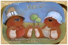 The Decorative Painting Store: Fall in Love Pattern by Mila Marchetti, Newly Added Painting Patterns / e-Patterns