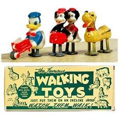 c.1955 Charmore (Marx) Disney Walkers with Ramp in Original Box