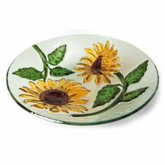 It is almost spring -- time for a bright, colorful sunflower birdbath.  So lovely to place on a stand already in your garden.