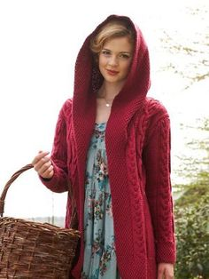 Hooded Aran Coat