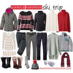 Capsule wardrobe: Ski trip now we're talking warm change pants to jeans/trousers