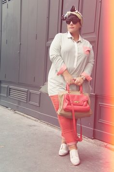 Love the pastels and the headscarf