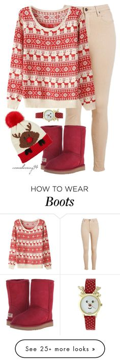 """Merry Christmas Everyone ❤"" by avonsblessing94 on Polyvore featuring UGG Australia"