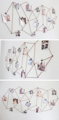 """brownfinches: """"DIY Geometric Photo Display - The Caldwell Project """""""