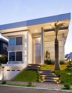 Fachada: Casas modernas por ANDRÉ PACHECO ARQUITETURA