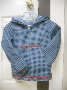 Kuspuk (boys size 2T-12) - awesome Alaska Native Snow Shirt/Hoodie