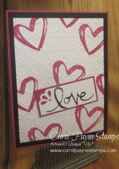 Stampin' Up! Watercolor Words for a Valentine!