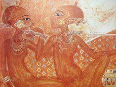 EGIPT: malowidło przedstawiające córki Echnatona