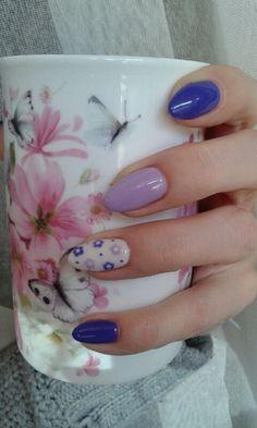Fiolet,Wrzos by Monika HR-Studio Hanna Roszkowska Wysokie Mazowieckie Studio, Nails, Beauty, Finger Nails, Ongles, Studios, Beauty Illustration, Nail, Nail Manicure