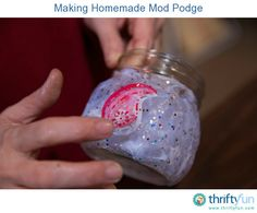 This guide is about making homemade mod podge. This craft supply can be made inexpensively at home.