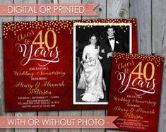 Th anniversary invitation th wedding anniversary invite
