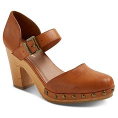 Women's Revel Faux Wood Bottom Mary Jane Clogs