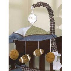 cocalo sports fan musical mobile geenny baby shower crib nursery sets baby boy hamper. Black Bedroom Furniture Sets. Home Design Ideas