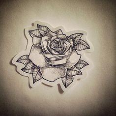 Simpleton. #rose #rosetattoo #dotwork #dotworkrose #rosedesign #traditional #traditionaltattoo #traditionalrose #dotworkdesign #dotworktattoo #heidikaye #tattooartist #tattooapprentice #tattooapprentice #tattoo