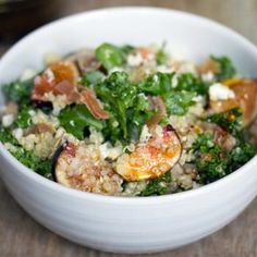 Lemony Kale, Quinoa, and Fig Salad