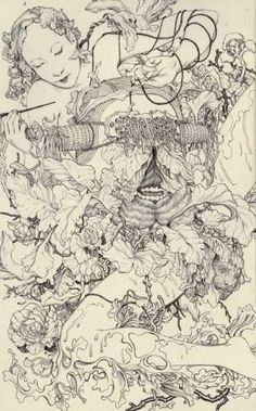 Deathly Forest Art : james jean sketches